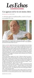 """""""La révolution du low cost"""" avec l'agence TVLowCost dans les echos-5-12-2013."""