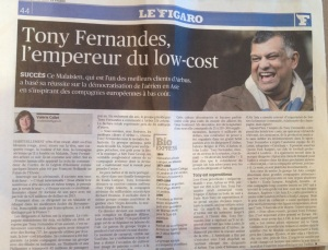 Le Figaro consacre un article à AIR ASIA X, la révolution du low cost